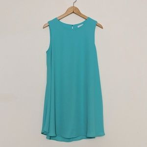 Anthropologie Everly Aqua Sleeveless Swing Dress